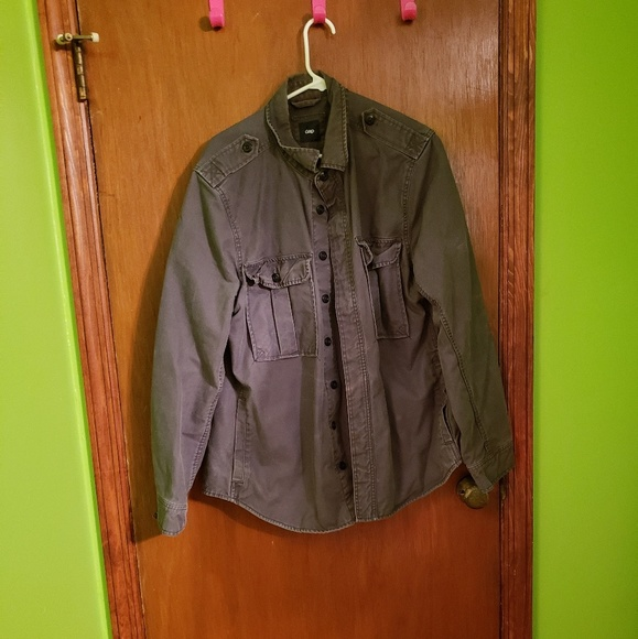 GAP Other - 🎉 Men's Gray Distressed Jean Like Jacket